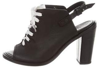 Rag & Bone Leather Lace-Up Booties