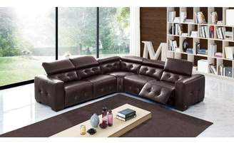 Orren Ellis Bulkley Leather Reclining Sectional
