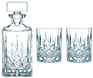 Nachtmann 3 Piece NOblesse Crystal Carafe & Tumblers Set