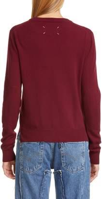 Maison Margiela Elbow Patch Wool Sweater