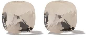 Pomellato 18kt rose & white gold Nudo white quartz stud earrings