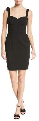 Black Halo Zahara Bow-Shoulder Sheath Mini Cocktail Dress