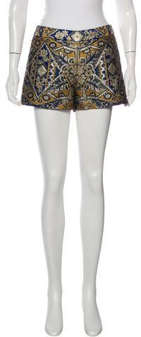 Alice + OliviaAlice + Olivia Jacquard Mini Shorts