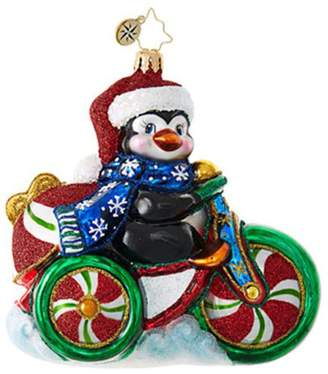Christopher Radko Cool Tricycle! Animal Christmas Ornament