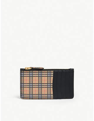 Burberry Somerset 1893 leather card case