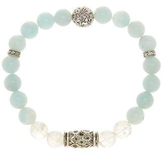 Jean Claude Amazonite, Quartz, & Antique Pewter Bracelet
