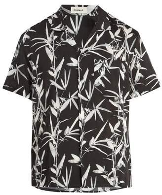 Commas - Bamboo Print Silk Blend Shirt - Mens - Black Multi