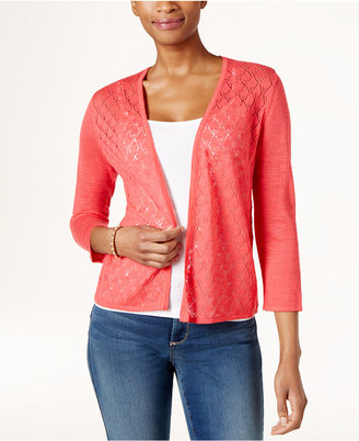 Charter Club Diamond-Stitch Open-Front Cardigan, Only at Macy's $49.50 thestylecure.com