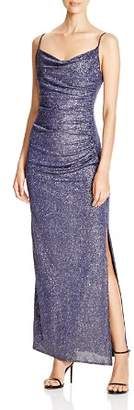 Laundry by Shelli Segal Metallic Ruched Gown - 100% Exclusive