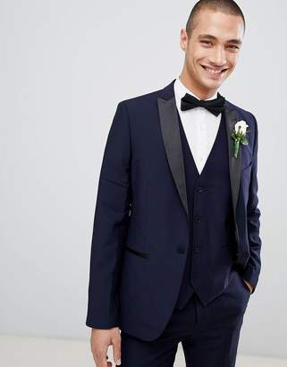 French Connection Slim Fit Peak Collar Tuxedo Jacket