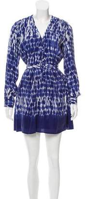 Thakoon Printed Long Sleeve Mini Dress