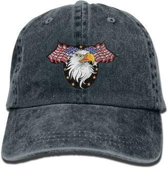American Eagle FJPUTAIN Unisex Adjustable Denim Baseball Cap Hat Cowboy Hat