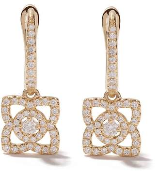 De Beers 18kt yellow gold Enchanted Lotus diamond sleeper earrings
