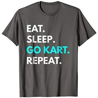 Eat Sleep Go Kart Repeat t-shirt - Go Kart Tees
