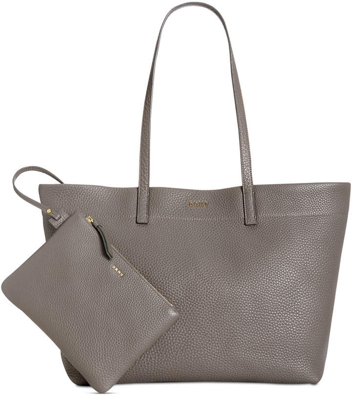 Dkny Deerskin Leather Extra-Large Open Tote, Created for Macy's