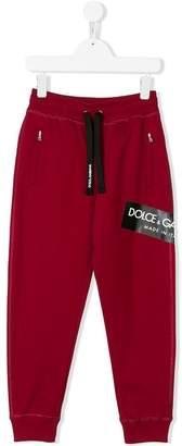 Dolce & Gabbana logo print track trousers