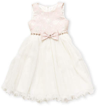 American Princess (Toddler Girls) Floral Bow Dress