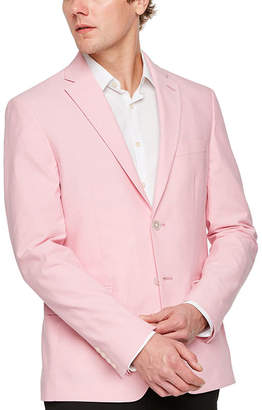 Izod Mens Pink Chambray Classic Fit Sport Coat