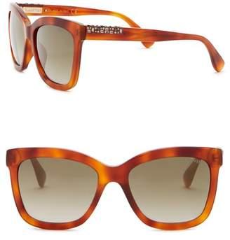 Lanvin 54mm Square Acetate with Swarovski Sunglasses
