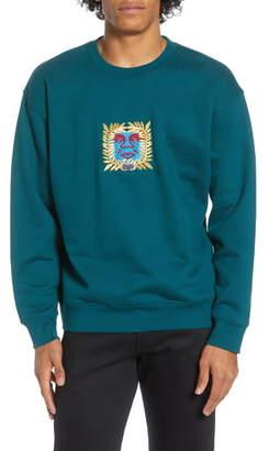 Obey Atlantic Embroidered Crewneck Sweatshirt