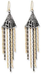 Lulu Frost Nell Chain Fringe Drop Earrings $215 thestylecure.com