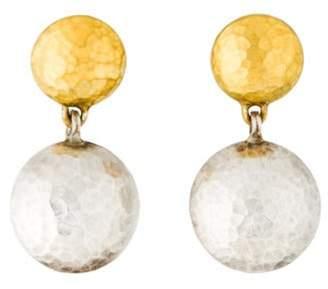 Gurhan Two-Tone Lentil Drop Earrings silver Two-Tone Lentil Drop Earrings