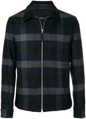 Theory checked shirt jacket