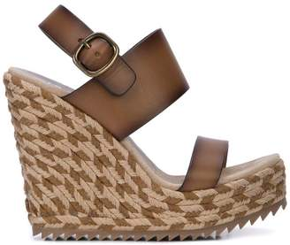 0a96534bf Brown Woven Wedge Sandals For Women - ShopStyle UK