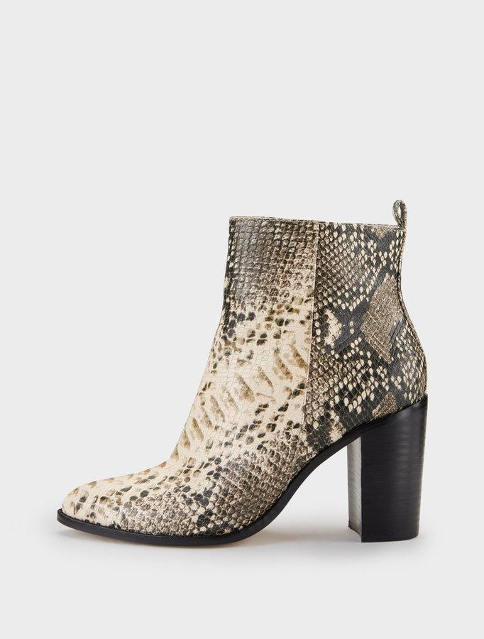 Houston Snake Print Ankle Boot
