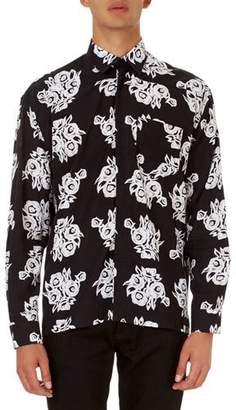 Givenchy Allover Floral-Print Poplin Shirt
