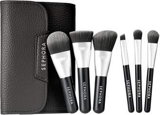 Sephora Mini Deluxe Charcoal Antibacterial Brush Set