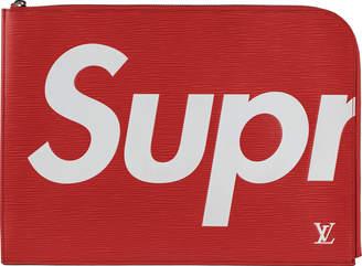 Louis Vuitton x Supreme Pochette Jour Epi GM Red