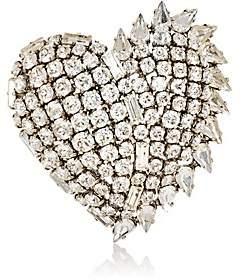 Saint Laurent Women's Heart-Shaped Brooch