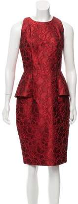 Carmen Marc Valvo Textured Satin Dress