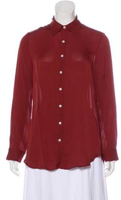 The Row Long Sleeve Button-Up Top