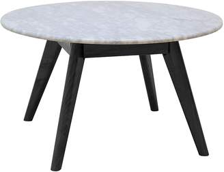 Life Interiors Coffee Tables Oia Marble Round Coffee Table, Black, Small