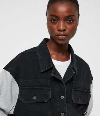 AllSaints Morton Military Denim Jacket