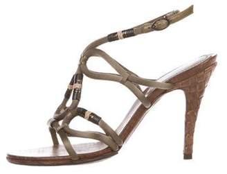 Bottega Veneta Satin Intrecciato Sandals