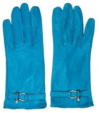 Burberry Leather Embellished Gloves