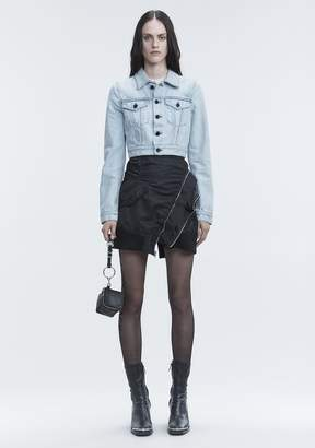 Alexander Wang BARE CROPPED DENIM JACKET