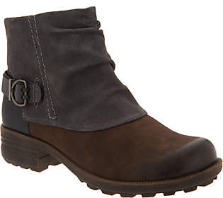 Earth Origins Leather and Suede Ankle Boots- Paige