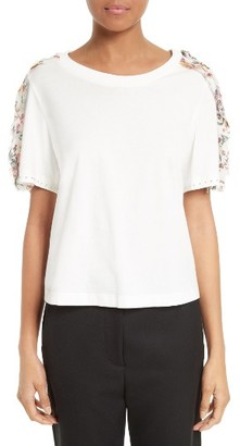 Women's 3.1 Phillip Lim Topstitched Ribbon Tee $275 thestylecure.com