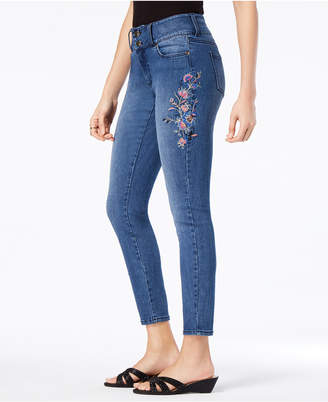 Thalia Sodi Embroidered Ankle Skinny Jeans, Created for Macy's