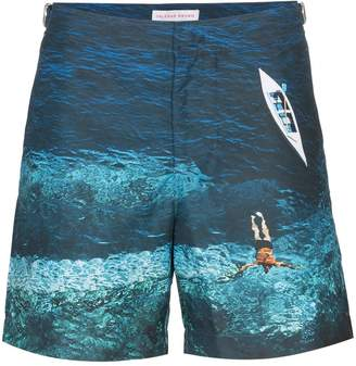 Bulldog Deep Sea print swim shorts