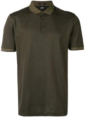 HUGO BOSS contrast trim polo shirt