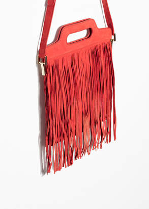 Fringe Suede Shoulder Bag