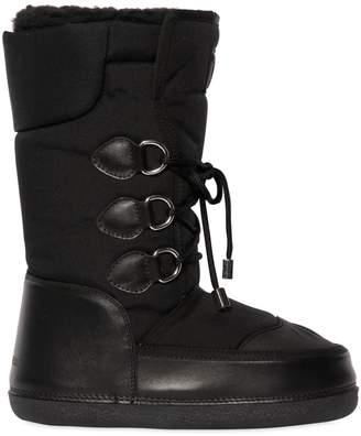 DSQUARED2 Nylon & Leather Snow Boots