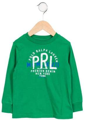 Polo Ralph Lauren Boys' Printed Long Sleeve Shirt