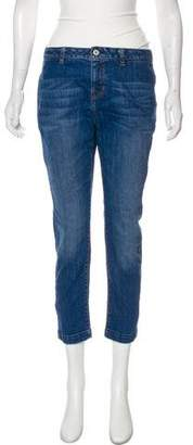 L'Agence Straight-Leg Mid-Rise Jeans