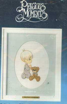 Precious Moments Paragon Needlecraft Stitchery Picture Kit with Matt Included God Loves Me by